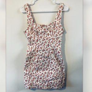 Forever 21 rose bud floral denim denim dress